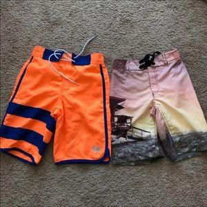 Other - Set of 2 New Boys swim trunks Size 7-8
